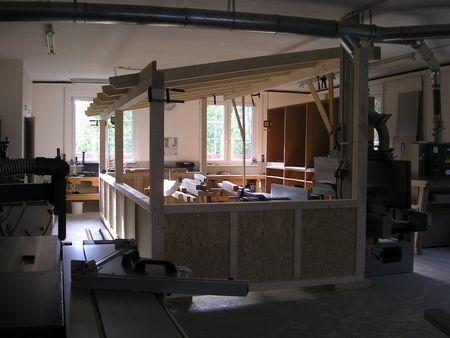 Aufbau Wintergarten
